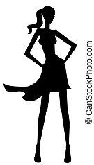 weibliche , silhouette