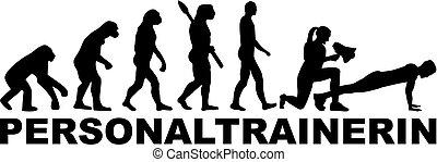 weibliche , trainer, persönlich, evolutionsphasen
