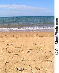 weich, sandiger strand