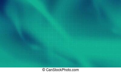 weich, strömend, blaues grün, schleife, r4e