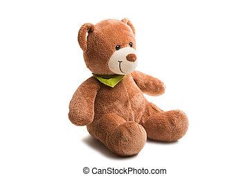 weich, teddybär, freigestellt