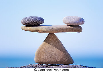 Weigh - Symbol Scales is made of stones of various shapes