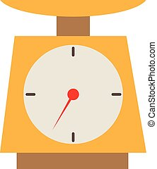 Weighing scales icon on white background. Weighing scales sign.