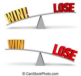 Weighing Win Or Lose Set