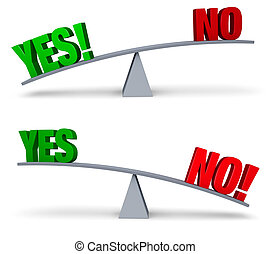 Weighing Yes and No Set