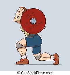 weighlifting, desporto, homem
