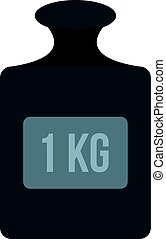 Weight 1 kg icon isolated - Weight 1 kg icon flat isolated...