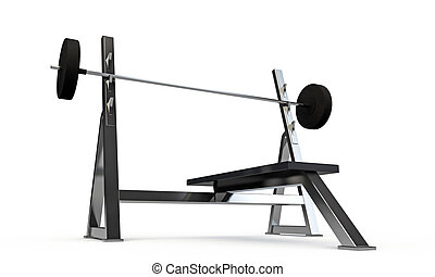 weight bench isolated on white background
