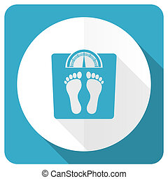 weight blue flat icon