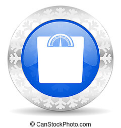 weight blue icon, christmas button