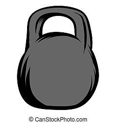 Weight icon cartoon