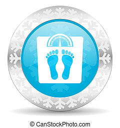 weight icon, christmas button