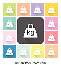 Weight Icon color set vector illustration