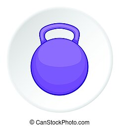 Weight icon, flat style