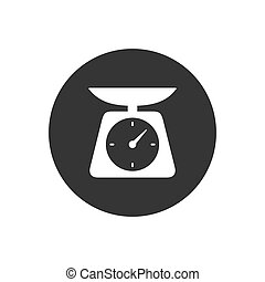 Weight icon vector. scale icon vector Modern flat style
