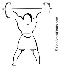 Weight lifter - Sketch illustration of weight lifter athlete