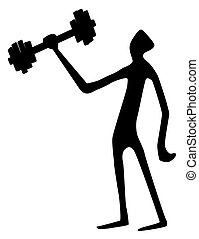 Weight Lifter Tall Silhouette