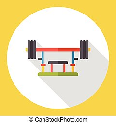 weight lifting flat icon