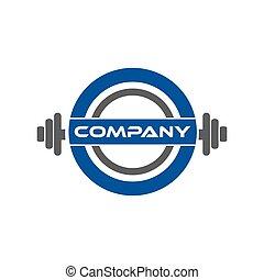 Weight lifting logo design template,