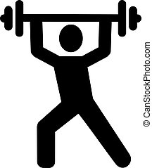Weight lifting pictogram