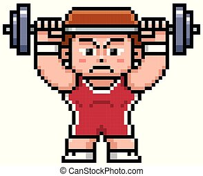 Weight lifting - Vector illustration of Cartoon weight...