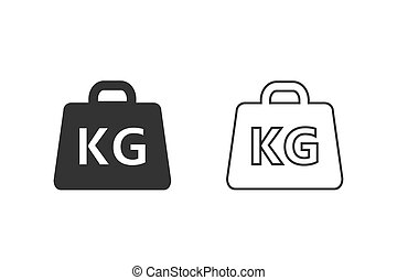 Weight line Icon set vector illustration