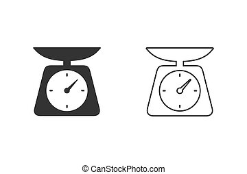 Weight line icon set vector. scale icon vector