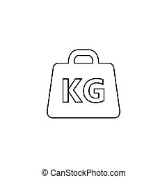 Weight line Icon vector illustration in flat