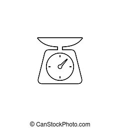 Weight line icon vector. scale icon vector