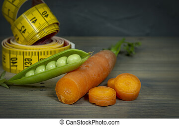 Weight loss and healthy diet concept