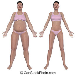 Weight Loss Before And After Front View - Before and after...
