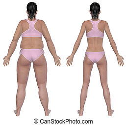 Weight Loss Before And After Rear View - Before and after...