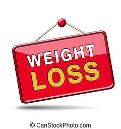 weight loss icon sign or button lose extra pounds by sport...