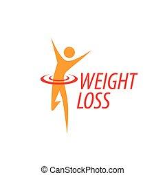 weight loss logo - logo design pattern diet. Vector ...