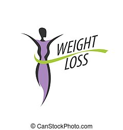 weight loss logo - logo design pattern diet. Vector...