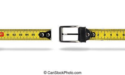 Weight loss measure belt gap - Tape measure buckle belt for...