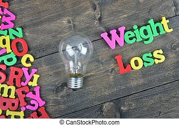 Weight loss on wooden table