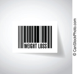 weight loss products barcode concept illustration design over a grey background