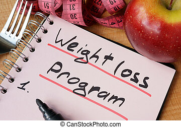 weight loss program - Diary with a record weight loss...