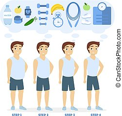 Weight loss progress.