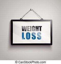 weight loss text sign