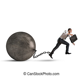 Weight of crisis - Man determined despite the weight of...