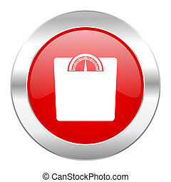weight red circle chrome web icon isolated