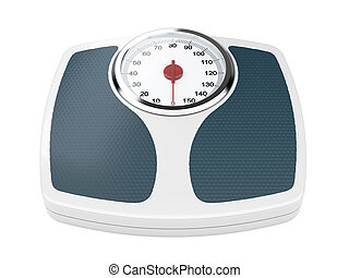 3d illustration of bathroom weight scale on white background