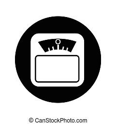 Weight Scale Icon illustration design