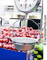 Weight scale in produce section