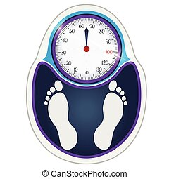 Weight scale with foot silhouette
