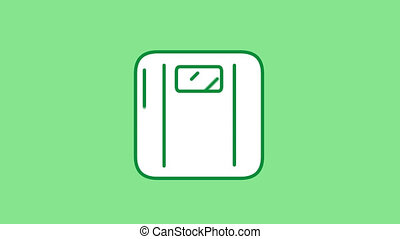 Weight Scales line icon is one of the Sport Lifestyle icon set. File contains alpha channel. From 2 to 6 seconds - loop.