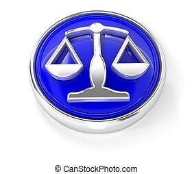 Weighticon on glossy blue round button