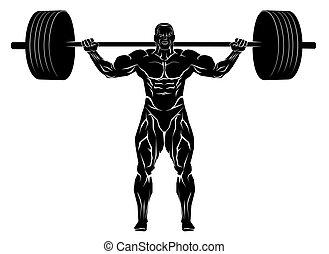 weightlifter, バーベル